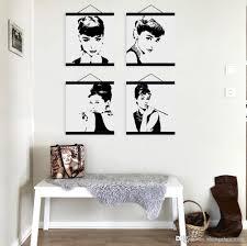 mild art celebrity abstract audrey hepburn set black white pop star portrait vintage poster wall