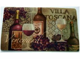 grapes grape themed kitchen rug: tuscan wine grapes kitchen rug cushion mat the perfect rug for your tuscan themed kitchen
