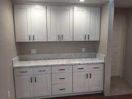 white shaker kitchen cabinets small