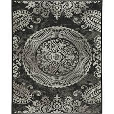 balta us georgiana black 8 ft x 10 ft indoor outdoor area rug
