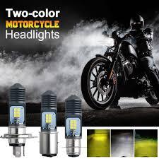 Bóng đèn pha led xe máy chân h4 - pha trắng cốt vàng - siêu sáng - có tản  nhiệt bảo hành 1 năm - dùng cho xe máy và ô tô -