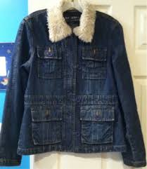 ac 3998 jean jacket. vintage ac-3998 women\u0027s/jr\u0027s denim jean jacket w/ faux fur collar! ac 3998 j