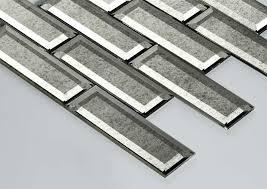 antique mirror glass subway beveled tile gray tiles straight