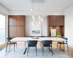 modern lighting vancouver. In This Modern Dining Room, Sculptural Pendant Lights Hang From The Ceiling, While Built Lighting Vancouver G