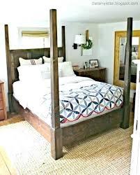 Farmhouse Canopy Bed Black – Gymigoapp