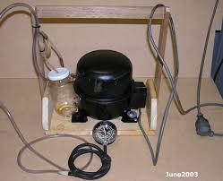 refrigerator vacuum pump. refrigerator vacuum pump w
