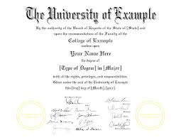 Fake Diploma Template D College Degree Certificates Templates