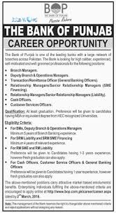the bank of punjab jobs branch manager other jobsworld