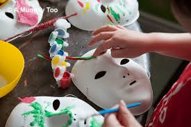 Decorating A Mask Mask decorating a fun easy craft activity for kids A Mummy Too 5