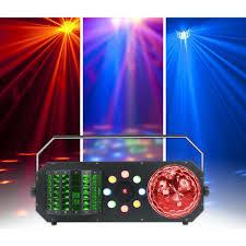Startec Lights American Dj Startec Boom Box Fx1 4 In 1 Led And Laser Lighting Effect Black