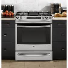 ge profile range.  Range GE Profile 56 Cu Ft SlideIn Self Clean Convection Gas Range With  Warming Drawer In Ge 0