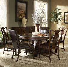 piece round dining table with splat back dining side chairs and
