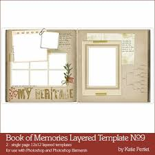 Book Of Memories Layered Templates No 09 Katie Pertiet Pse Ps