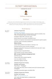 Software Programmer Resume Samples Visualcv Resume Samples Database