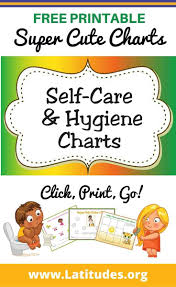 Free Printable Self Care Hygiene Charts For Kids Acn