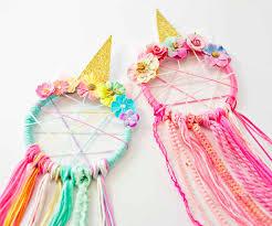 diy unicorn dreamcatcher materials