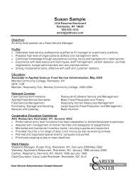 Catering Resume Good Food Service Administration Sales Manager