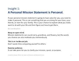 What Is Your Personal Mission 1 1 What Is A Personal Mission Statement