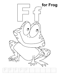 2ce28b654f143c827dd0b734f4f50bd6 f for frog coloring page with handwriting practice frogs on alphabet handwriting worksheets