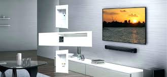 tv mount with cable box holder cable box mount behind and sound bar cable box holder