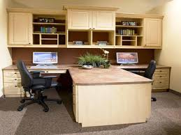 dual desk home office. Wood Dual Desk Home Office E