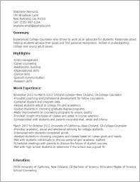 Resume Templates: College Counselor