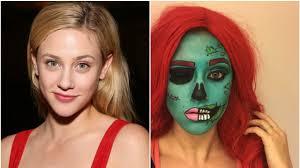 lili reinhart special fx makeup on insram