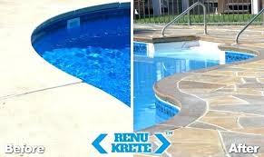resurfacing pool cost pool deck resurfacing before and after 3 pool deck re phoenix pool deck resurfacing pool