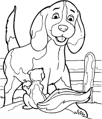 Honden En Poezen Kleurplaten Regarding Kleurplaten Kittens En