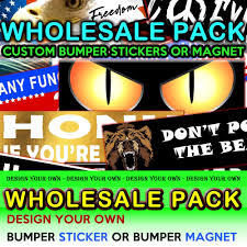 Design Your Own Sunglasses Wholesale 4x Wholesale Pack Any 10 X 3 Bumper Sticker Or Magnetic