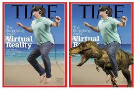 Promocionando la Realidad Virtual, y como el Time crea un meme ... via Relatably.com