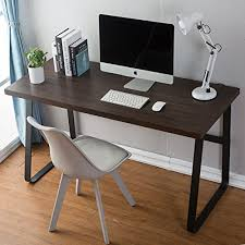home office writing desks. DecoMate Vintage Computer Desk, Wood And Metal Writing PC Laptop Home Office Study Desks I