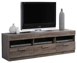 Alvin TV Stand Rustic Oak Transitional Entertainment Centers