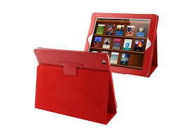 smith for ipad 2 3 4 case modern lychee leather high quality shielding cover red tablet cases