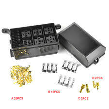 atv fuse box 6 relay 5 road car auto atv fuse relay holder box relay socket nacelle insurance
