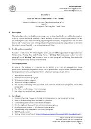 essay writing syllaby