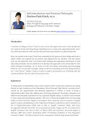 Gallery Of Self Introduction Letter And Personal Philosophy Example