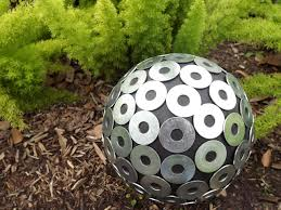 Decorated Bowling Balls How to Make a Contemporary Garden Gazing Ball HGTV 3