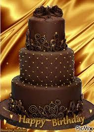 chocolate happy birthday cake pictures
