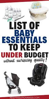 Baby Stuff Checklist Baby Essentials Actual Baby Necessities You Need Free
