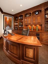 traditional office design. Traditional Office Design Ideas Home With Dark Wood Crown Molding Off