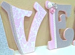 letters for baby room custom nursery letters for girl pink and grey nursery decor wooden letters