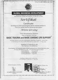 Sertifikat Pelatihan Rsud Dr Pirngadi Kota Medan