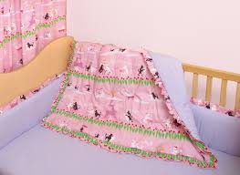 100 cotton pink poodle theme crib bedding for baby toddler rooms 100