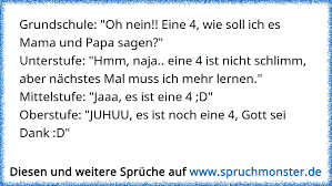 Grundschule Oh Nein Eine 4 Wie Soll Ich Es Mama Und Papa Sagen