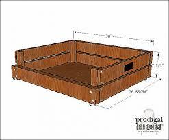 diy dog beds out of pallets pet bed diy building plans tutorial