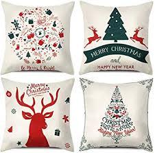 TERUNPU <b>4pcs Christmas</b> Pillow Covers 18x18inches, <b>Merry</b>