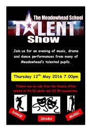 Talent Show Poster Designs Meadowhead School Meadowhead On Show