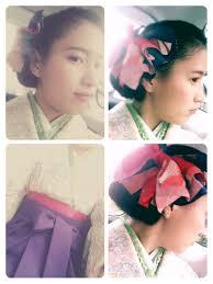 袴 ボブ かき上げ前髪 和装living Saki 145565hair