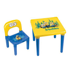 Kids Living Room Furniture Childrens Play Table Ebay Minions Activity Tabledesk Childs Chair